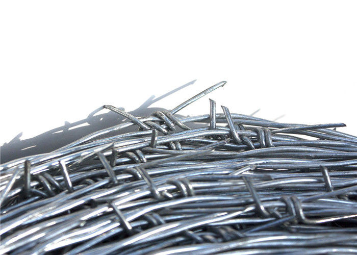 Security Wire Fence With Barb Miniature Barbed Wire 4 Point 12 14 16 Gauge Gi Material